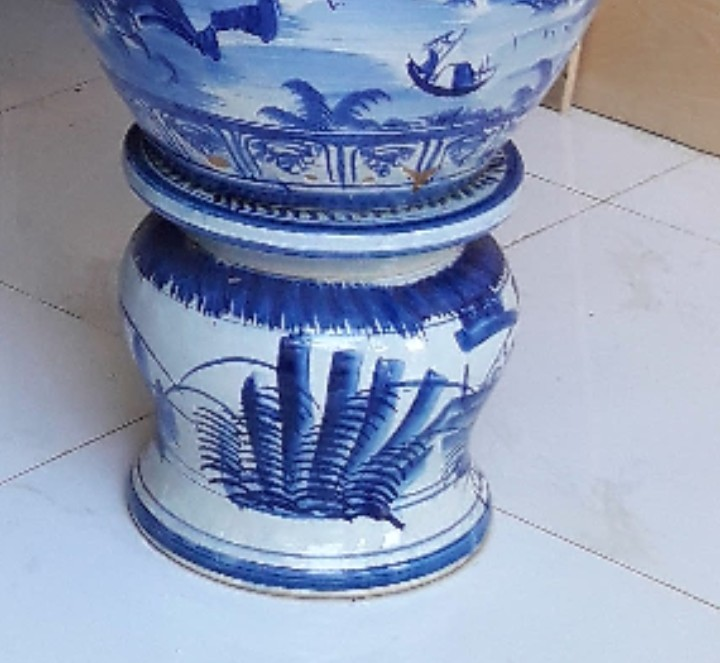 890 - Đôn sứ Bát Tràng 30 x 30