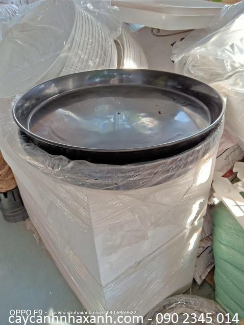 975 A - Đĩa Nhựa Đen tròn 35cm