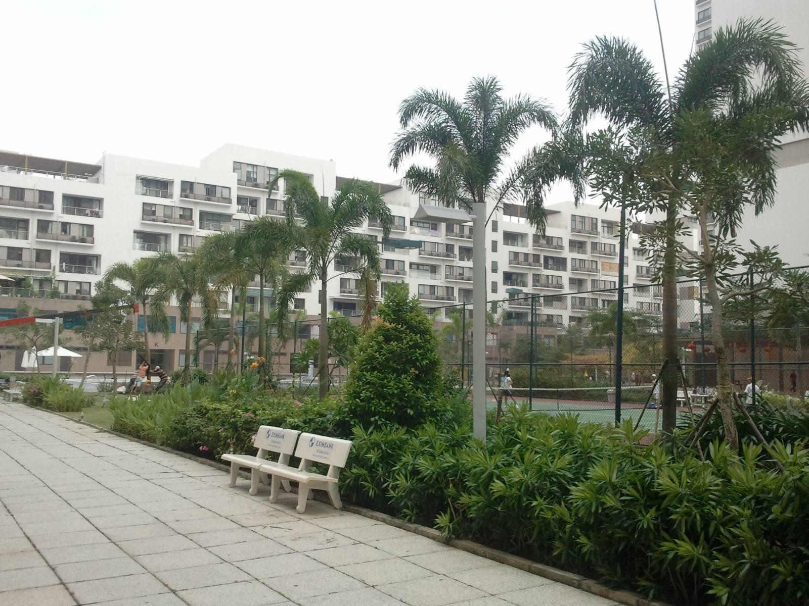 Thi công vường cảnh tòa nhà Panorama - Phú Mỹ Hưng