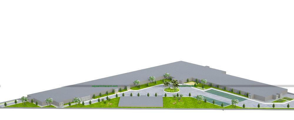 thiết kế 3D - Cảnh quan Nhà máy điện BT