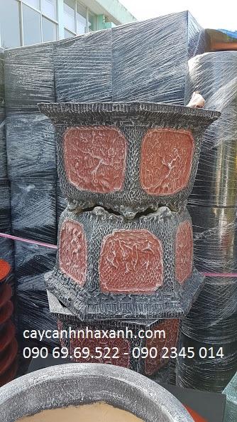 1062 - Chậu đá Lục giác 60 x 50