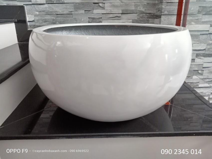 1250 - Chậu composite trứng 80 x 40