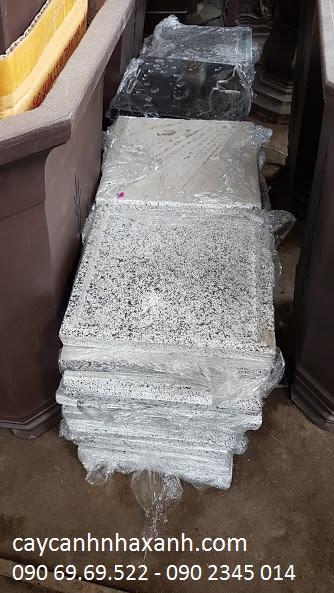 1058 - Dĩa lót chậu đá mài vuông 35cm