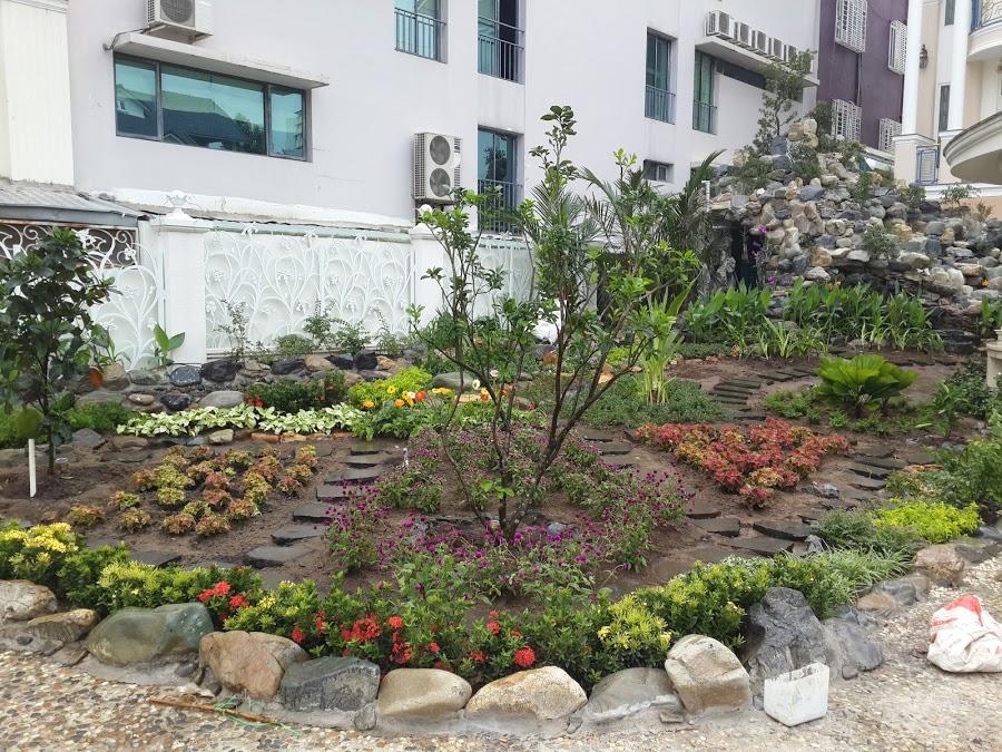 Thi công vườn hoa Biệt thự PMH