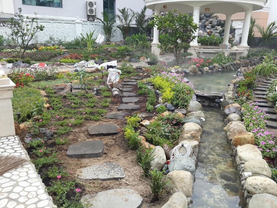 Thi công Suối nước Biệt thự PMH