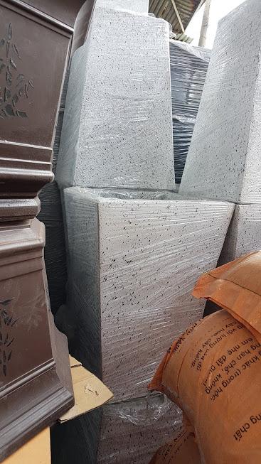 1049 C - Chậu đá mài vuông 40 x 60 x 30