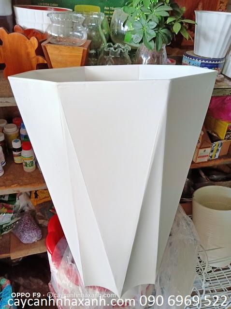 940 A - Chậu Nhựa 8 cạnh 40 x 50
