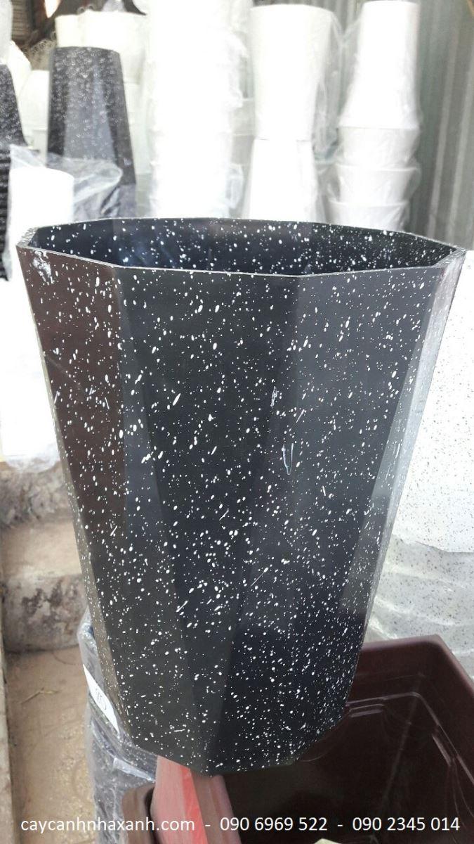 987 - Chậu nhựa giả đá 30 x 40