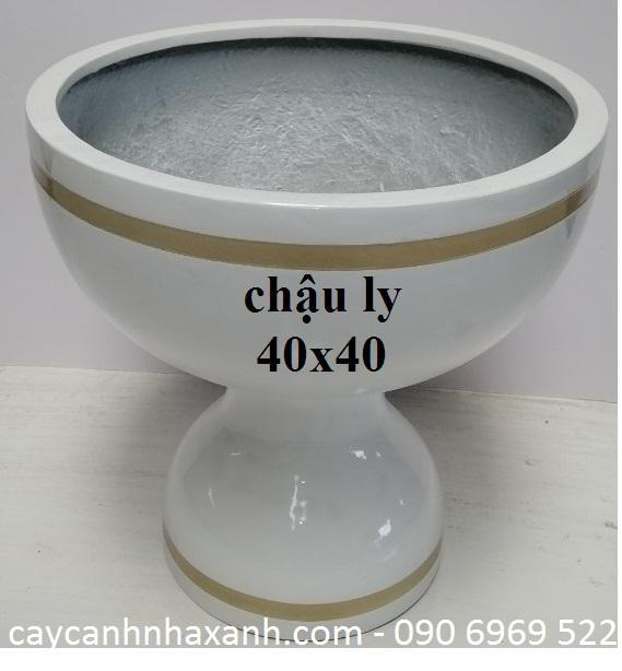 1237 - Chậu Ly cắm Lan  40 x 40
