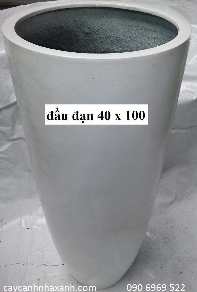 1257 - Chậu composite tròn 40 x 100
