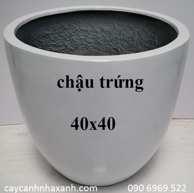 1253 - Chậu composite tròn 40 x 40