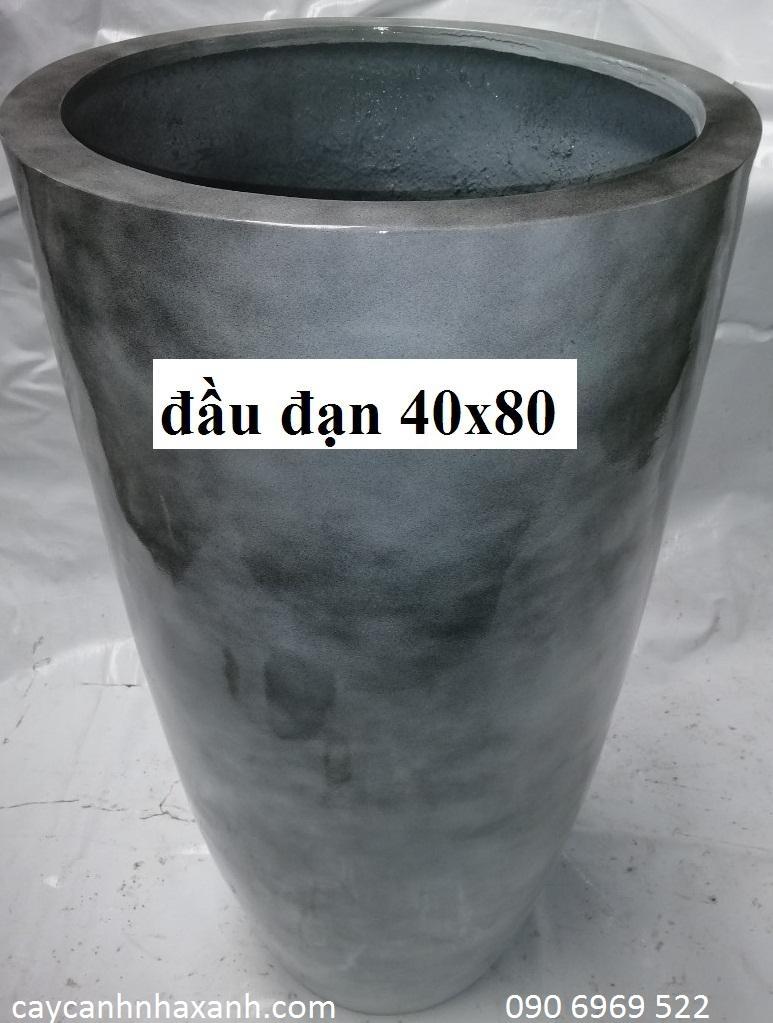 1255 - Chậu composite tròn 40 x 80