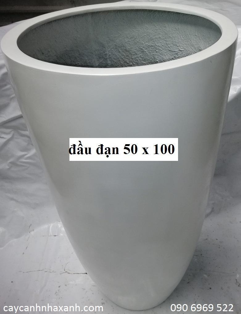 1262 - chậu composite tròn 50 x 100