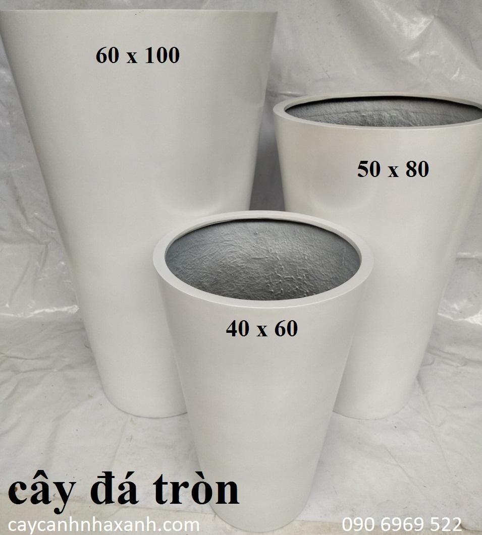 1266 - chậu composite tròn 60 x 100
