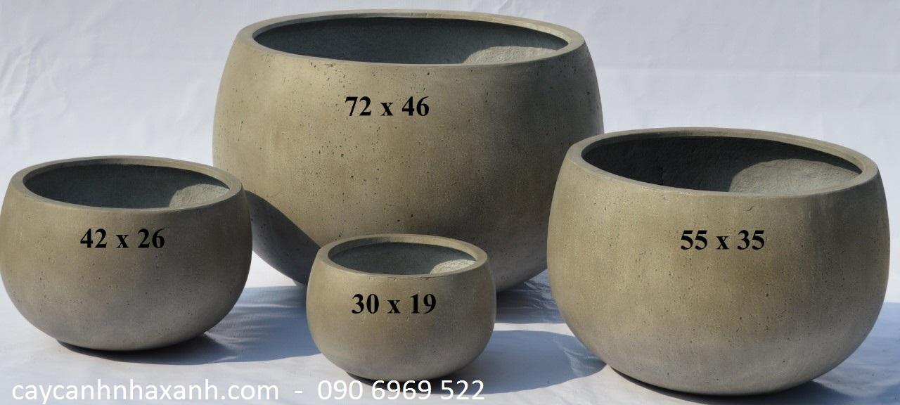 1276 - chậu composite tròn 72 x  46