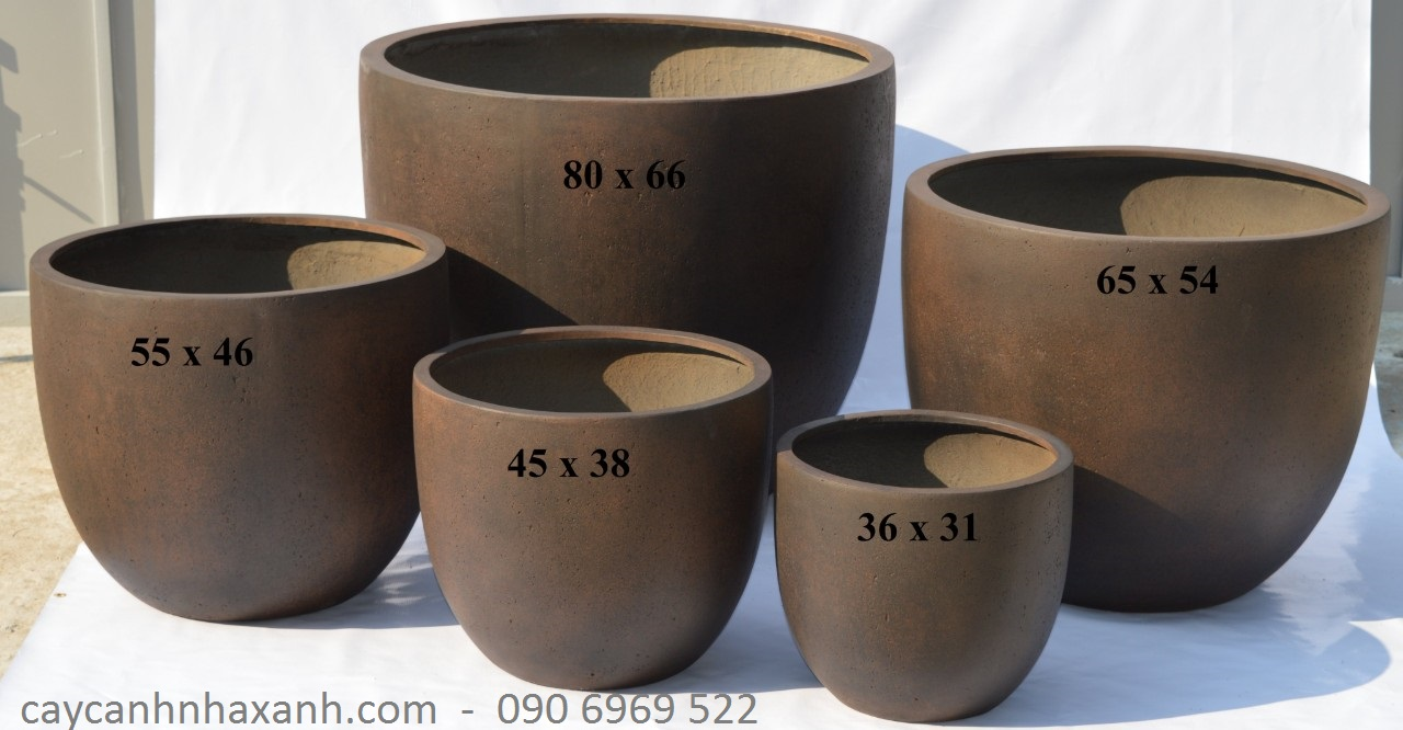 1275 - chậu composite tròn 80 x 66
