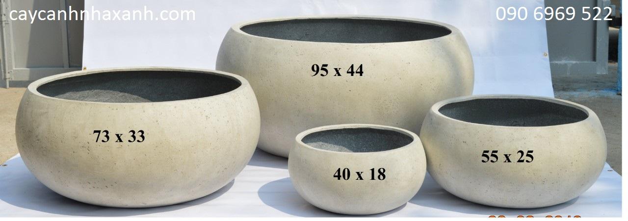 1277 - Chậu composite trứng lớn 95 x 44