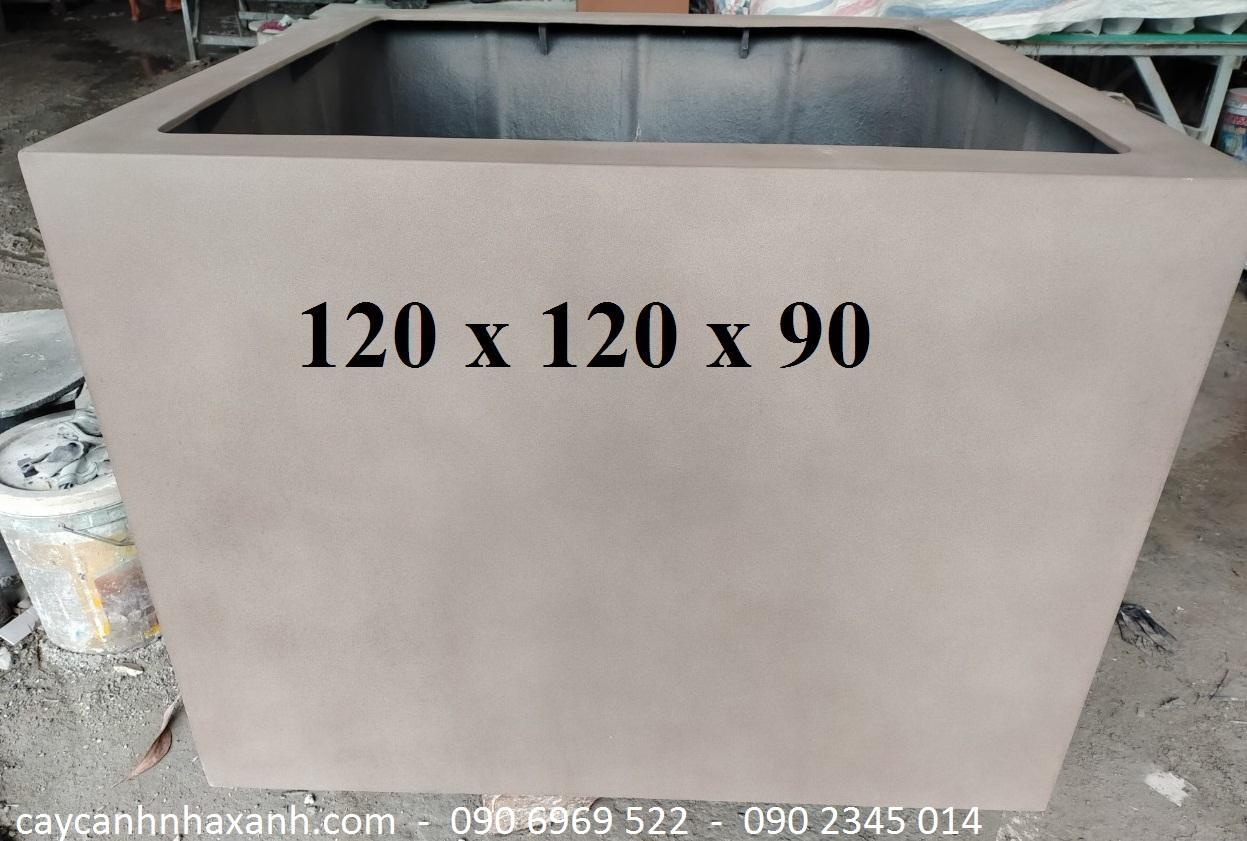 1271 - Chậu composite vuông 120 x 90
