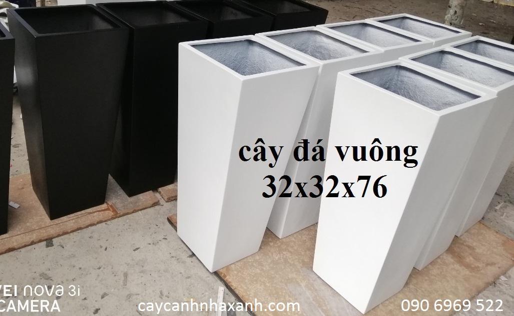 1270 - Chậu composite vuông 32 x 76