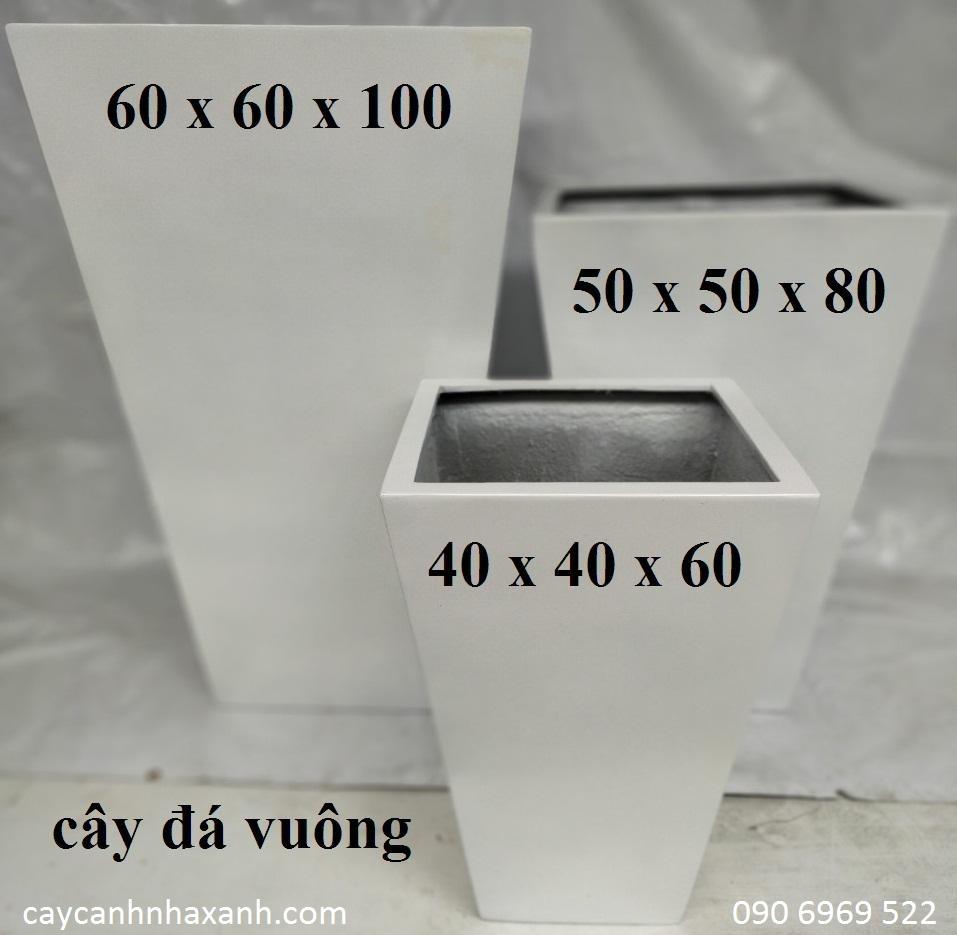 1269 - Chậu composite vuông 60 x 100