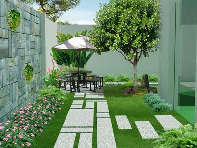 cảnh quan vườn cỏ
